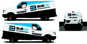 Blue Hat Vehicle Wrap Raleigh